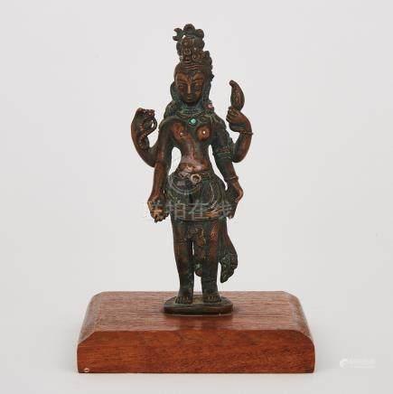 A Bronze Figure of Ardhanarishvara, Nepal, 17th Century