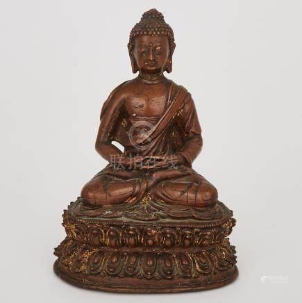 A Bronze Buddha, Tibet, 16th Century