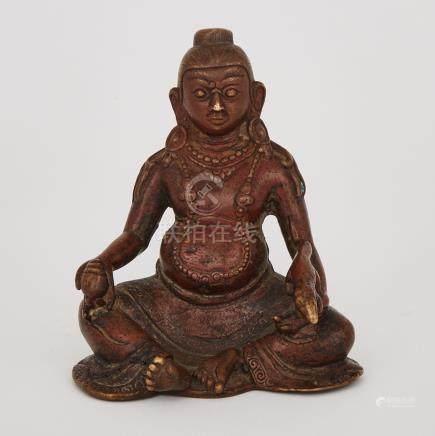 A Bronze Figure of Vaishravana, Tibet, 17th Century or Earlier