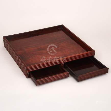 A Huanghuali Stationary Tray, 19th/20th Century