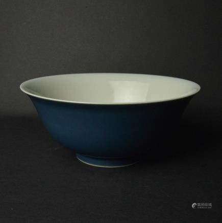 CHINESE BLUE GLAZED PORCELAIN BOWL