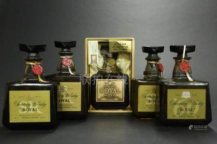 三得利皇家珍藏版威士忌5瓶一組