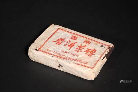 70年代寬版磚茶