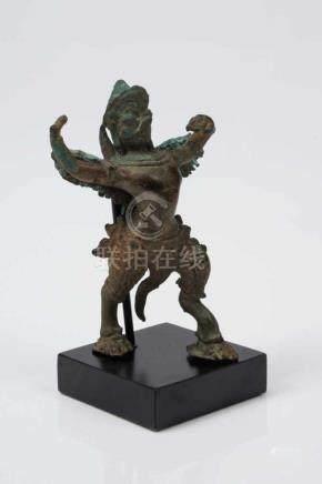 GARUDA bronze, Angkor Wat, 12th century H: 9,5 cm / W: 7 cm Garuda is a half-man, half-eagle steed