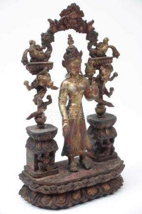 TARA bronze, Nepal, 20th century H: 38 cm / W: 21 cm