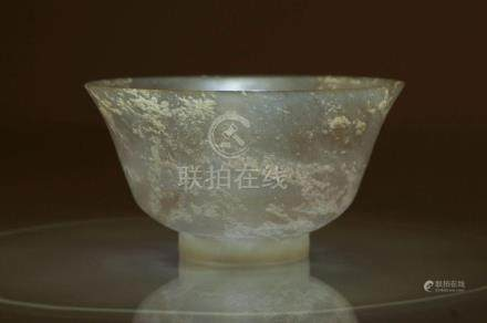 A Rare Finely Carved Jade Bowl