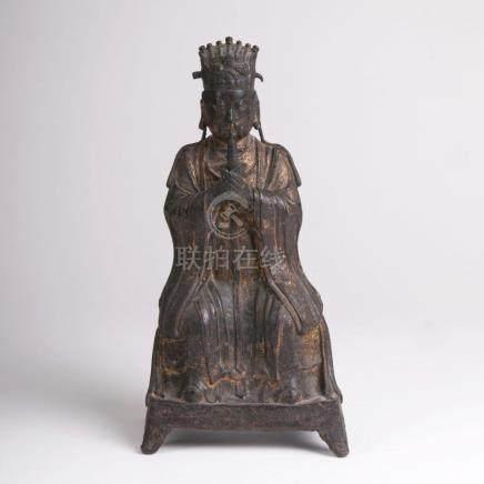 A Bronze Sculpture 'Daoist Emperor'