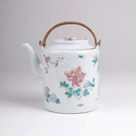 A Famille Rose Tea Pot