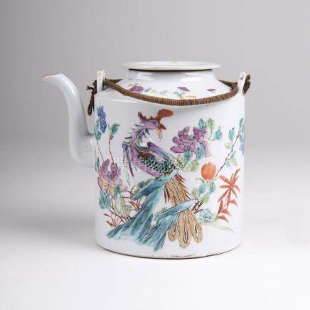 A Famille Rose Tea Pot with Phoenix