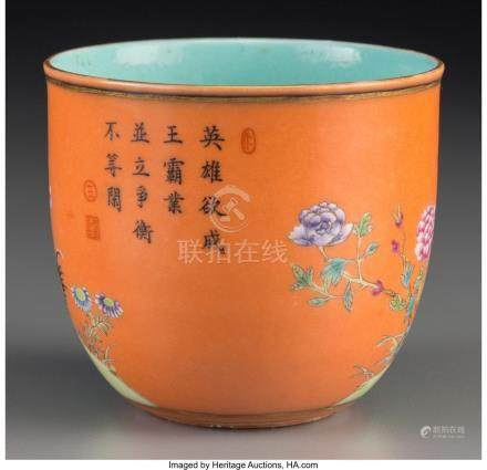 A CHINESE ENAMELED PORCELAIN CHICKEN CUP, REPUBLIC PERIOD, C