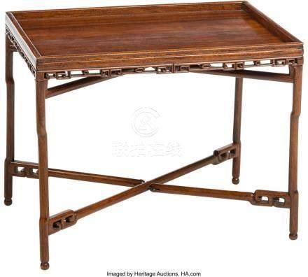 AN CHINESE HONGMU CONVERTIBLE FOLDING TABLE, QING DYNASTY, 1