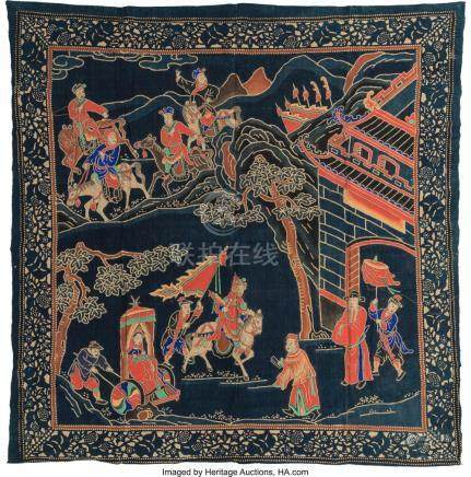 TWO PAINTED CHINESE TEXTILES, QING DYNASTY, LATE 19TH CENTUR