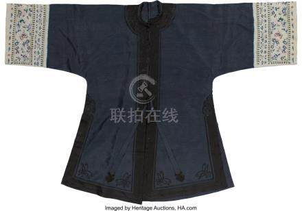 TWO CHINESE ROBES, EARLY REPUBLIC PERIOD 50 INCHES HIGH X 66