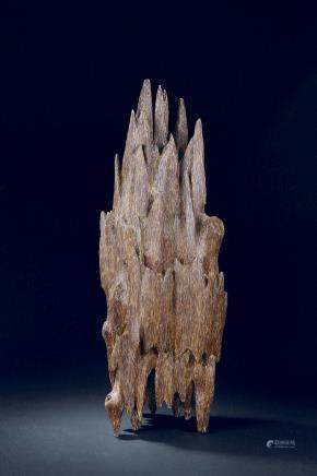 A agarwood mountain boulder