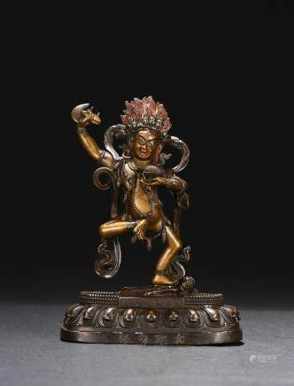 A bronze figure of vajravarahi