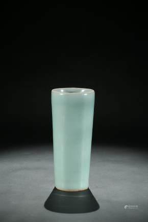 A Longquan celadon glazed brush pot