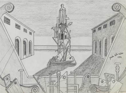 GIORGIO DE CHIRICO Italian 1888-1978 Graphite