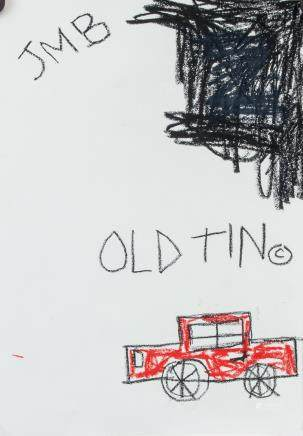 JEAN-MICHEL BASQUIAT US 1960-1988 Crayon/Paper