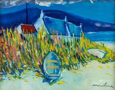 DAVID MILNE Canadian 1882-1953 Gouache Landscape
