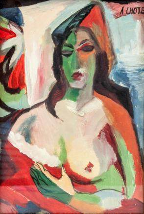 ANDRE LHOTE French 1885-1962 Gouache Nude Woman