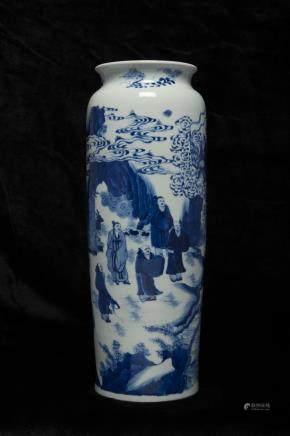 Qing blue&white vase