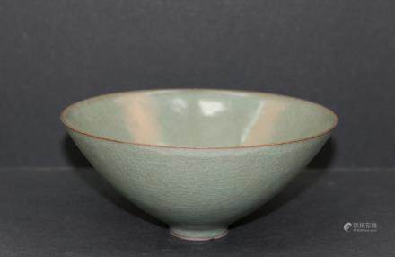 A chinese green glaze bowl
