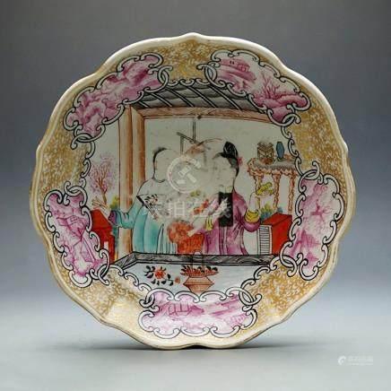"""Qing """"Qianlong"""" Export Famille - Rose Dish"""