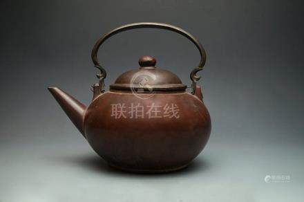 Late Ming Dynasty, A Large and Old Yixing Teapot