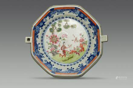 Qing Dynasty(Yongzheng) Export, Octagonal Warm Plate