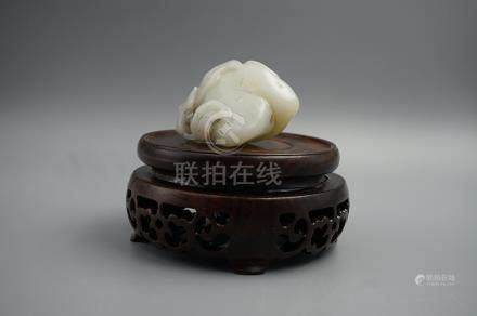 Middle and Late Qing Dynasty, A He Tian White Jade