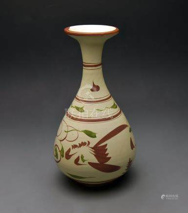 "Jin Dynasty,  ""Ci Zhou"" Kiln Painted Bottle Vase"