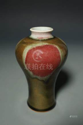 Middle Qing Dynasty, A Flambe-Glazed Meiping