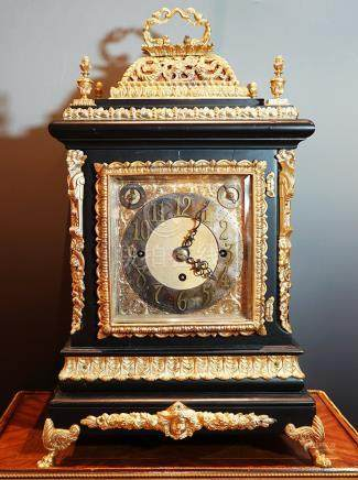 19th Century, A Gilt Desk Clock