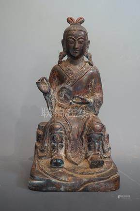 Late Ming Dynasty, A Character with Bronze statue