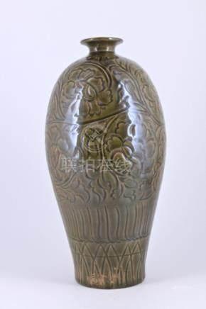 Song Yuezhouyao Floral Porcelain Vase