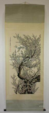 Scrolled Hand Painting signed by Tao Leng Yue