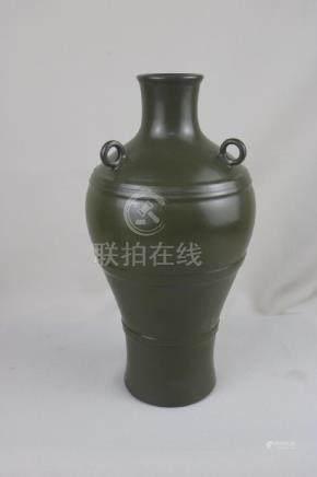 Chinese Tea Glazed Porcelain Vase
