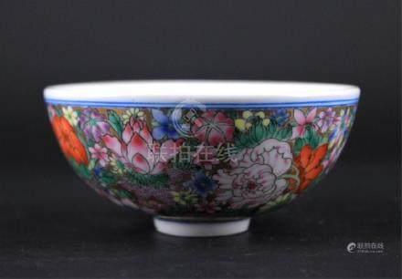 Chinese Qing Porcelain Hundred-Flower Bowl