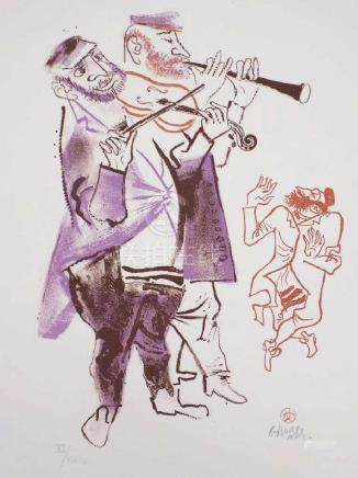GROPPER - MUSICIANS SIGNED LITHOGRAPH