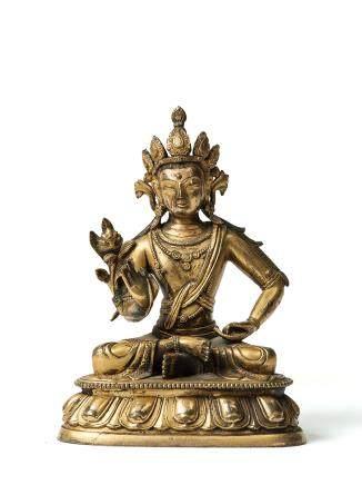 清早期 銅鎏金彌勒菩薩像