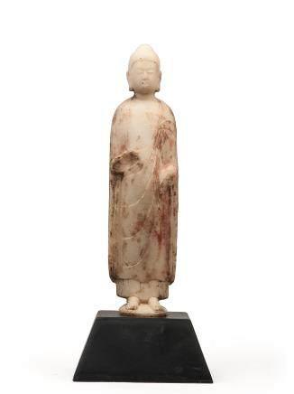 北齊 漢白玉釋迦牟尼立像