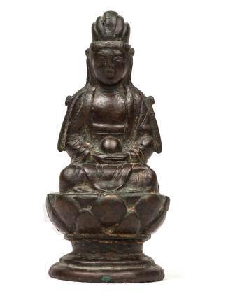 遼 銅地藏王菩薩坐像