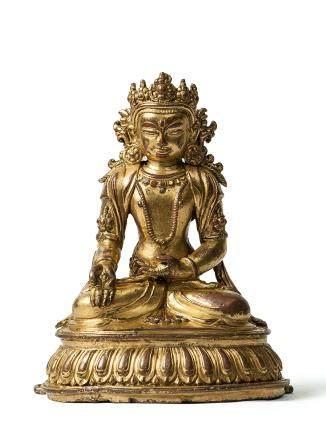 14-15世紀 銅鎏金寶生佛坐像