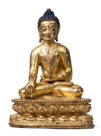 16世紀 銅鎏金藥師佛像