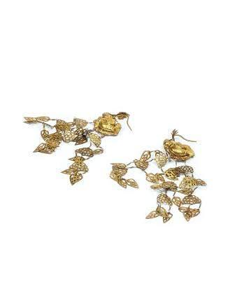 清 金魚化龍耳環(一對)