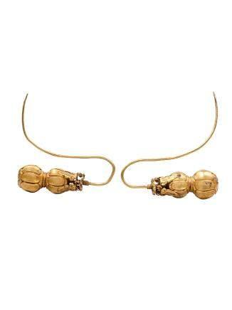 清 金葫蘆耳環(一對)