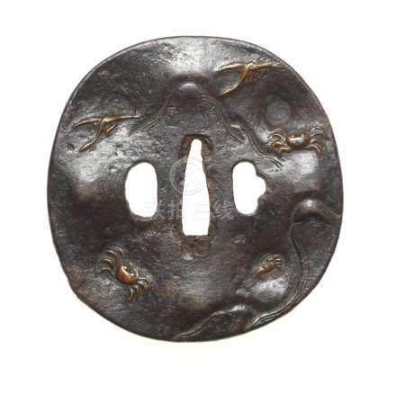 Five various iron tsuba 18th to 19th century (5)