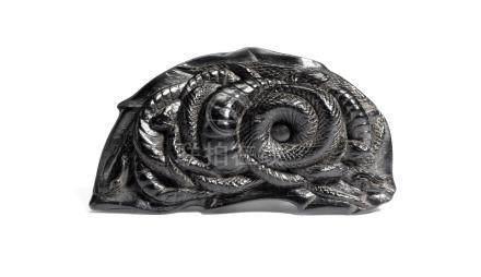 An ebony netsuke of five snakes Probably Iwami, early 19th century
