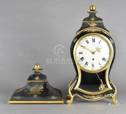 An early 20th Century Zenith bracket clock, by Turler Zurich-Bern, black painted surround and