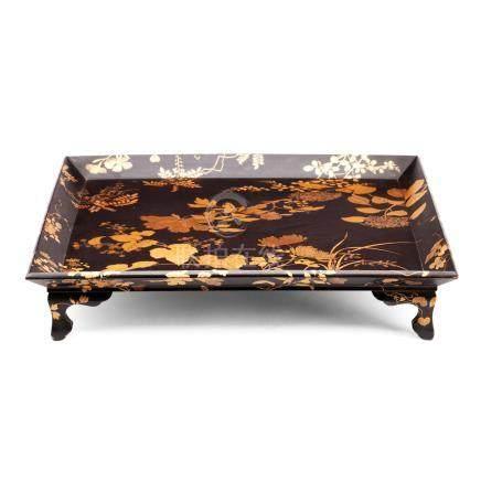 Two lacquer trays Meiji era (2)
